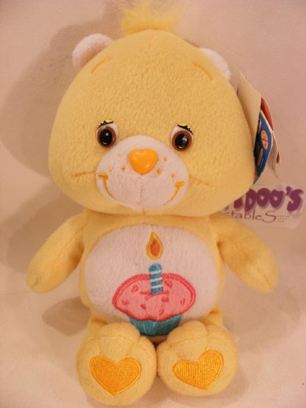 "BNWT COLL EDT 8"" BIRTHDAY CAREBEAR CARE BEARS BEANIE"